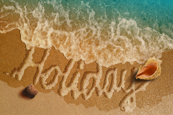 summer holiday: summer, holiday, sea, sand, shell