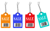 Coloured Sales Tags