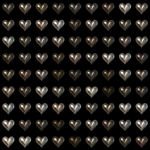 Dark Heart 3: A seamless metallic heart tile with a dark background. You may like: http://www.rgbstock.com/photo/2dyWTmj/Love or http://www.rgbstock.com/photo/mQiMNNQ/Lots+of+Hearts+18