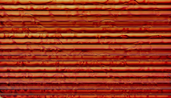 rusting corrugations: abstract corrugated background, textures, patterns, geometric patterns, shapes and perspectives