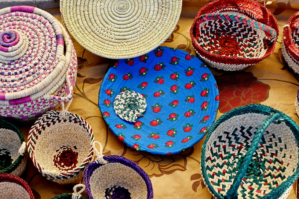 Art for sale in Saudi: Arts and Crafts from Saudi Arabia as gifts in festival. Shopping for gifts and artwork from local artists local handmade items and historical objects. Local artists sell their hand made objects