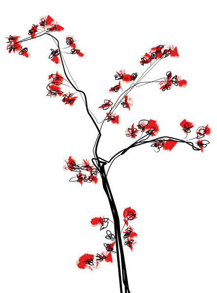 Plant & blossoms illustration: I think its a quick and nice eyecatcher. The size is A4/USletter +