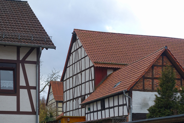half timbered houses scene: half timbered houses scene
