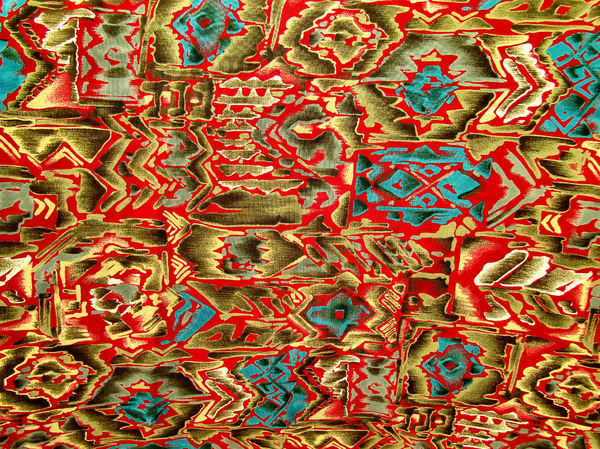 fabric red contours1: bright red contour patterned fabric