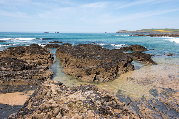 Coastal rocks: Coastal rocks in Cornwall, England.