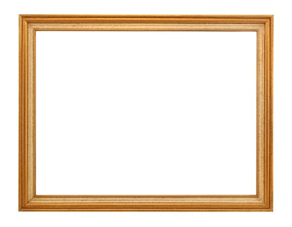 Thin Wooden Frame: One of a series of picture frames.