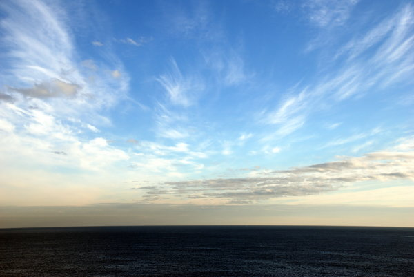 Horizon line: Horizon line. Landscape from my home window
