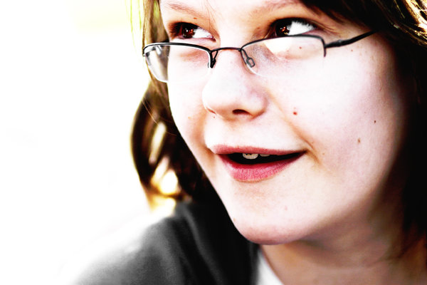 Just A Girl: Another portrait of my sister - because I can.