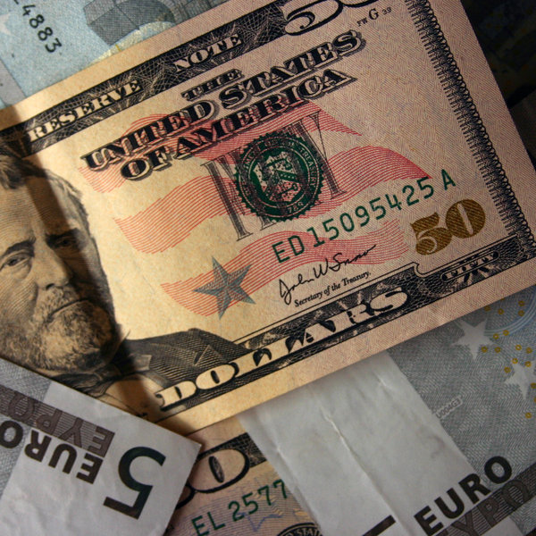 euro and dollar 12: euro and dollar bills