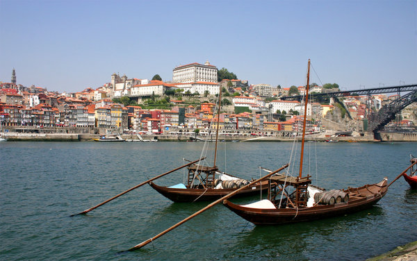 rabelo boat: traditional boats used in the transport of the porto (oporto) wine