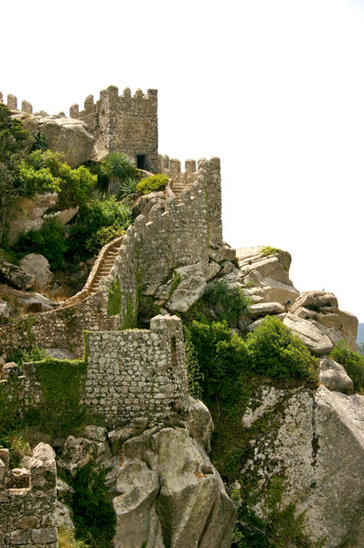 sintra castle 3: castle of the Moorish Sintra, Portugal
