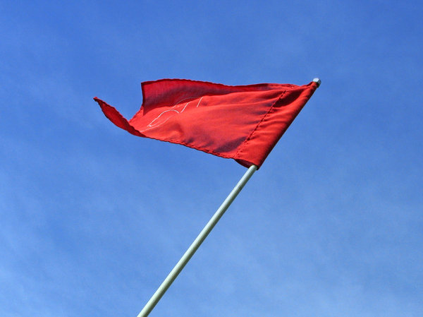 red flag: red golf flag
