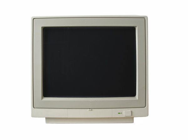 monitor: old monochrome monitor