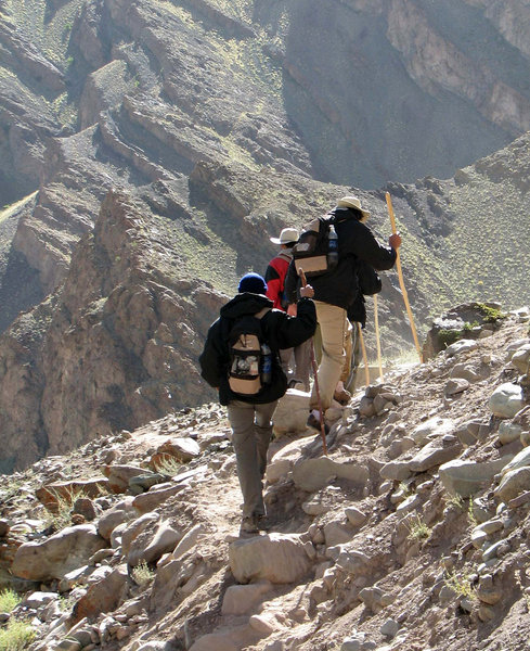 Trekking: Trekking, at the foothills of Stok La, Ladakh.