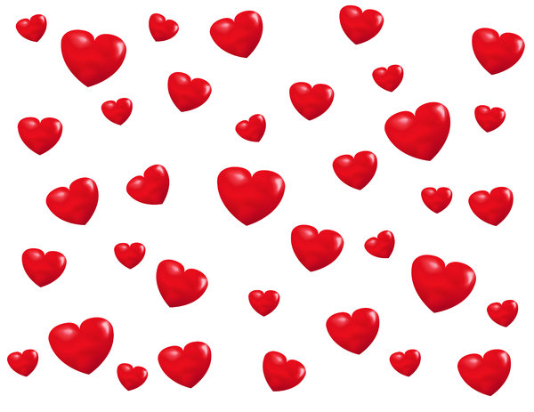 Valentine Background: Valentine hearts background.