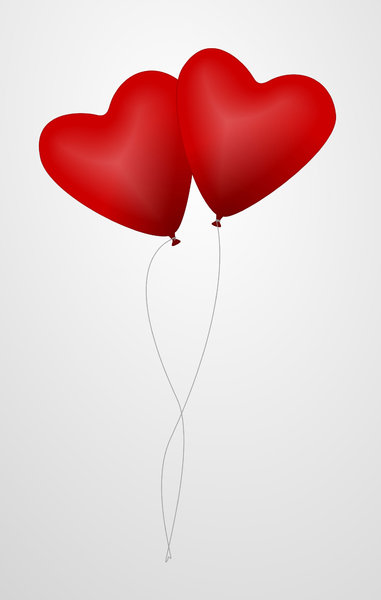 Heart shaped balloons: Heart shaped balloons