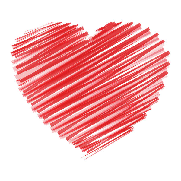 Scribble Heart: Scribble heart over white background.