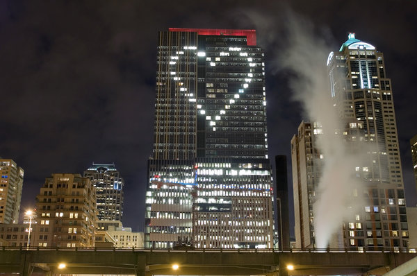 Heart of Seattle: Heart on a building in Seattle on February 14, 2007.
