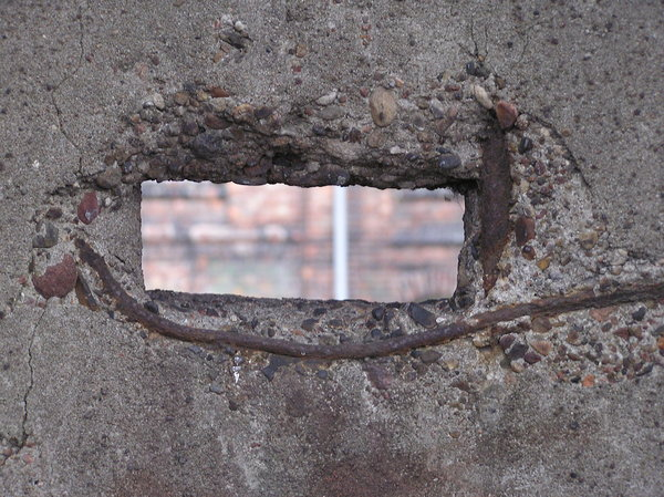 Hole In Concrete Wall : Free stock photos rgbstock images hole in