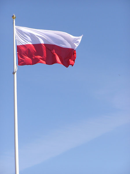 Polish flag: A flag of Poland on the mast.Please comment this shot or mail me if you found it useful. Just to let me know!I would be extremely happy to see the final work even if you think it is nothing special! For me it is (and for my portfolio)!