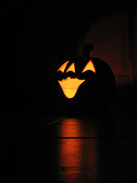 Halloween illuminated Pumpkin: Halloween pumpkin illuminated from the inside