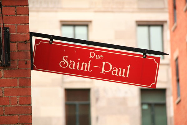 Rue St Paul: Quebec Street Sign