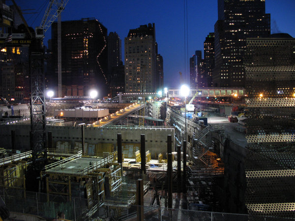 World Trade Center: Construction site at the World Trade Center, New York.