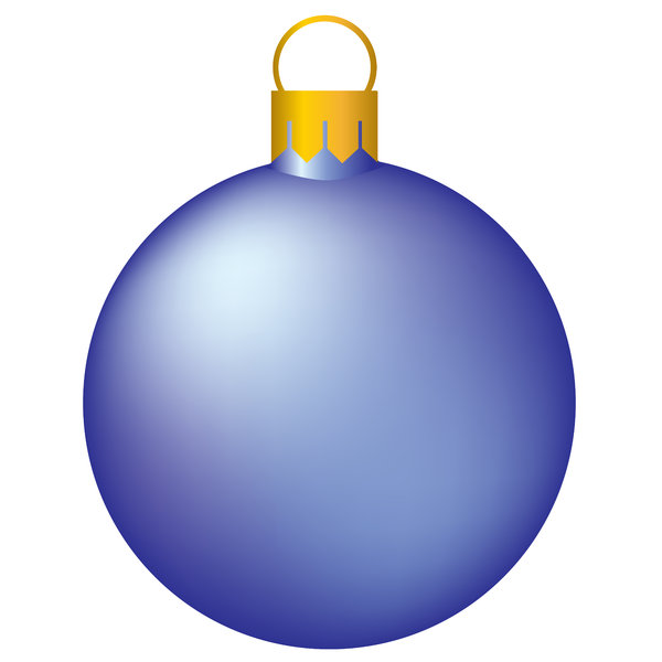 Christmas Tree Bauble: Isolated bauble on a white background.