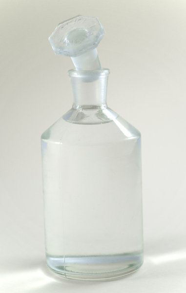 Chemical bottle: Little chemical bottle with alcohol