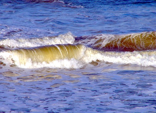 Ocean Waves: Waves in a choppy sea.