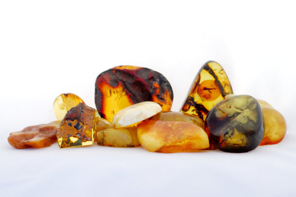 Stack of Baltic amber 2: Few of  natural amber stones