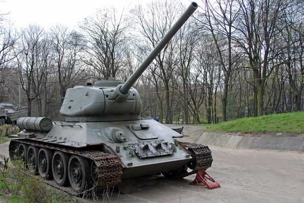 Soviet tank t 34: Soviet tank t 34 from polish army, world war II