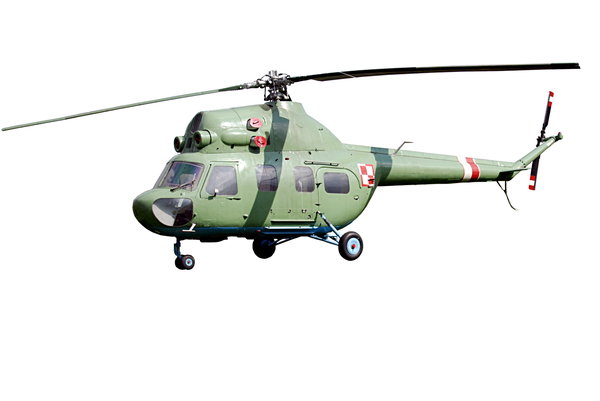 Helicopter Mi 2 from polish ai: Isolated plane