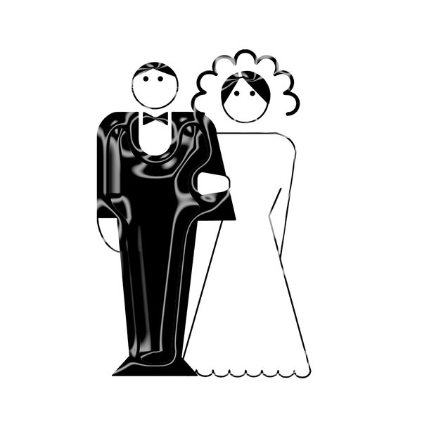 newly-weds pictogram 5: Wedding icon