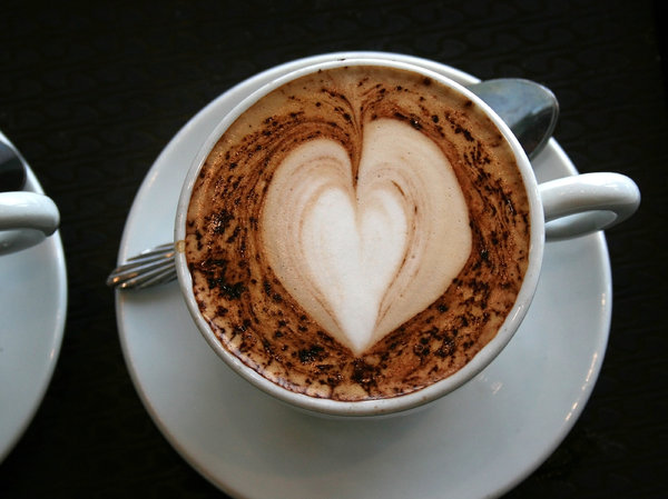 Coffee heart: A heart-shaped topping to a cup of coffee.