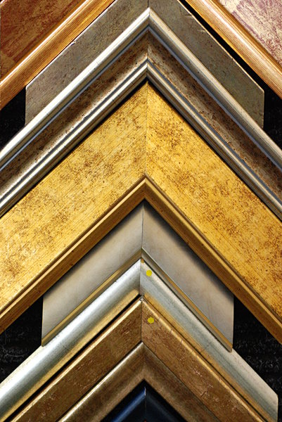 Detail of frames - texture 1: Corners of image frames