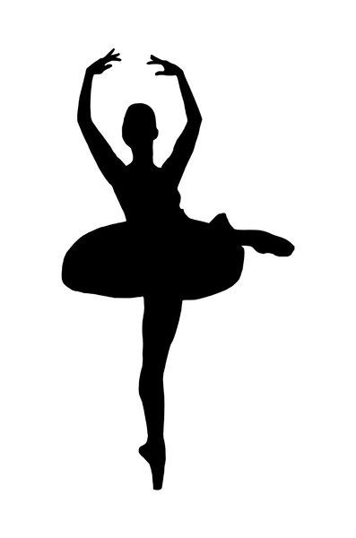 Ballet 4: Silhouette of dancing girl