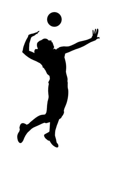 Volleyball 2: Silhouette of playing girl
