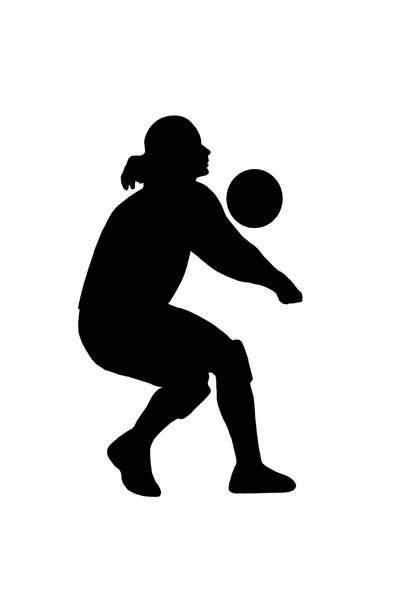 Volleyball 4: Silhouette of playing girl