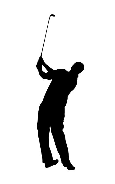 Golf player 3: Silhouette of golfer