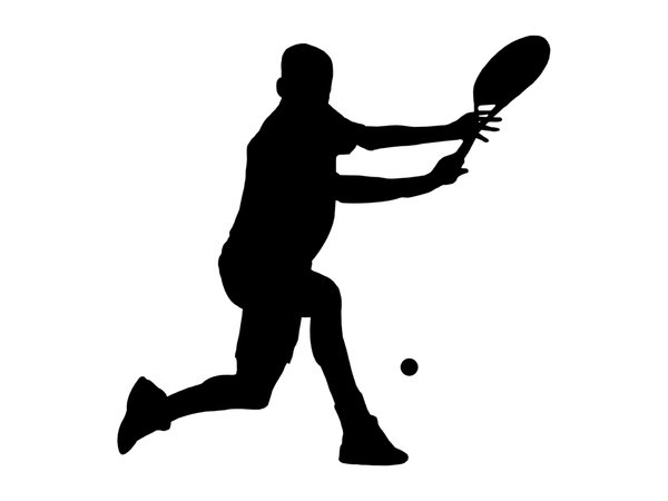 Tennis 3: Silhouette of player