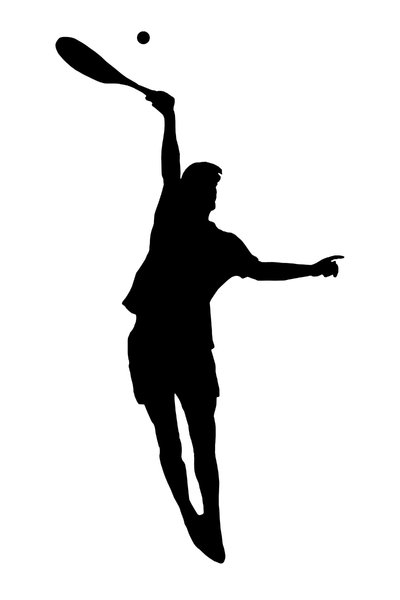 Tennis 5: Silhouette of player