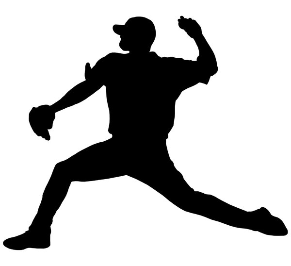 free clipart baseball player silhouette - photo #43