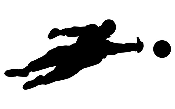 Goalkeeper from football 1: Soccer player silhouette