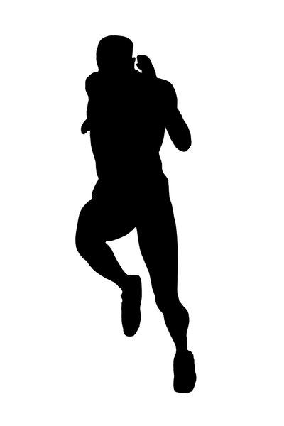 Silhouette of runner: Sportsman figure