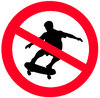 Sign NO SKATING
