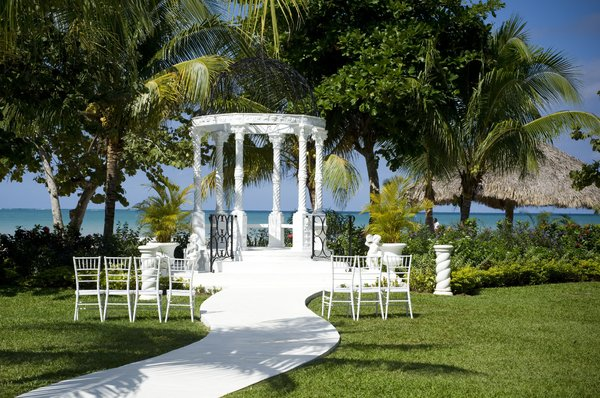 Gazebo: Where the wedding took place.