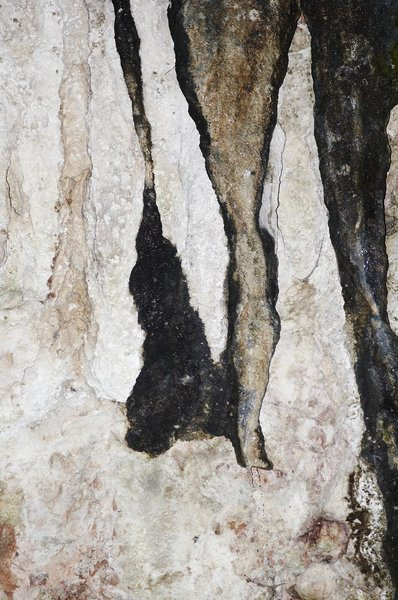 various textures: cave wall