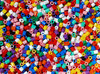 colored plastic beads texture