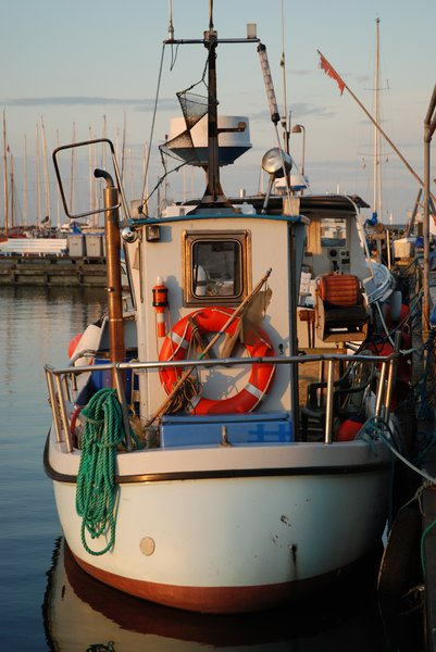 Fishing Boat Stern: Fishing Boat Stern, Dragör harbour, Denmark.